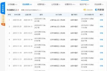 王思聪旗下上海熊猫互娱文明再成失期被执行人