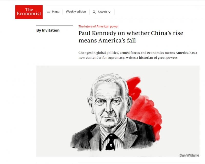 大国的兴衰作者保罗·肯尼迪中美之间出现惊人对比